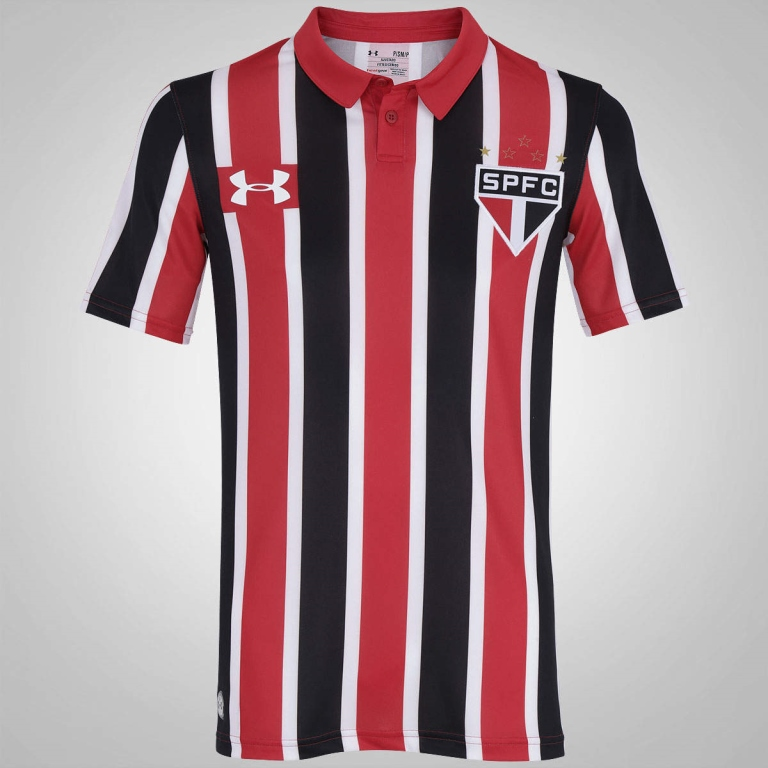CAMISA OFICIAL UNDER ARMOUR HOME TORCEDOR AWAY SAO PAULO LIST 2016-2